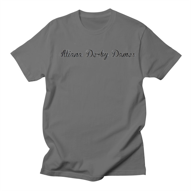 Black IDD script Men's T-Shirt by Illiana Derby Dames's Team Merch Shop