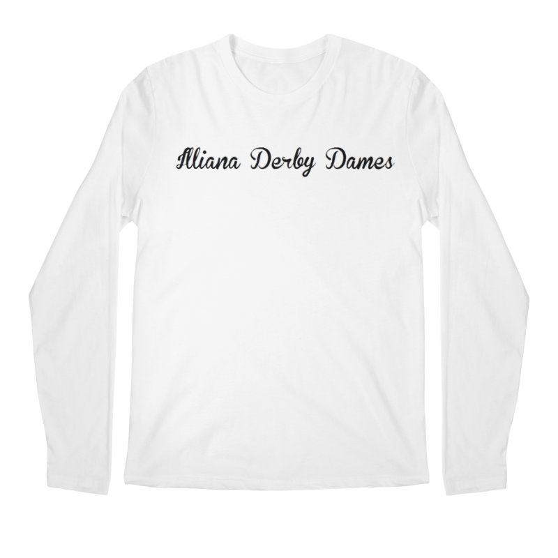Black IDD script Men's Regular Longsleeve T-Shirt by Illiana Derby Dames's Team Merch Shop