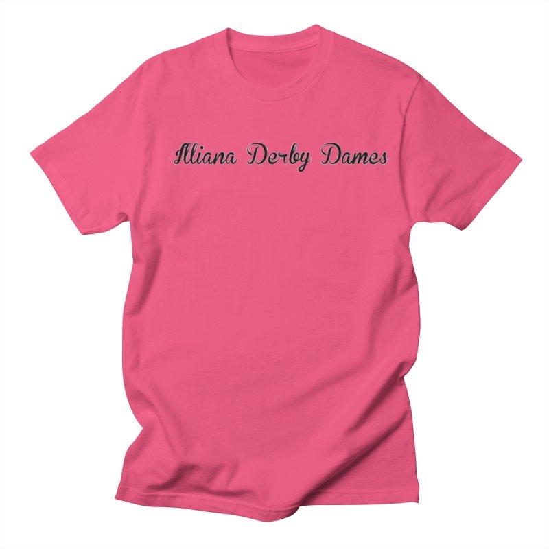 Black IDD script Men's Regular T-Shirt by Illiana Derby Dames's Team Merch Shop