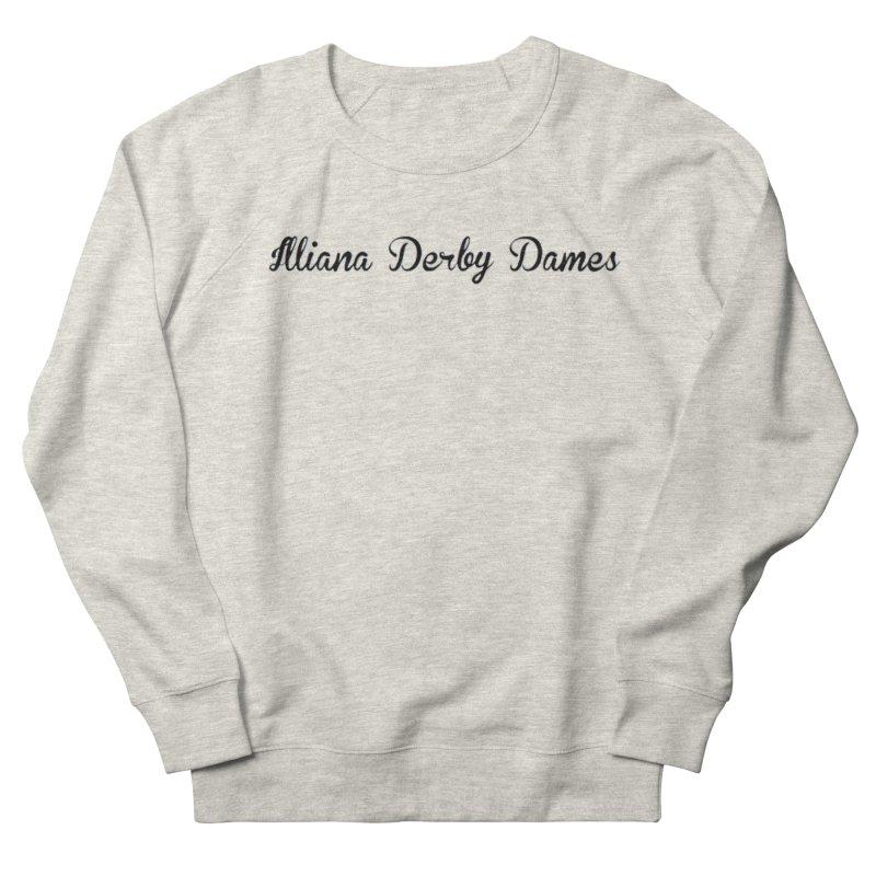 Black IDD script Men's French Terry Sweatshirt by Illiana Derby Dames's Team Merch Shop