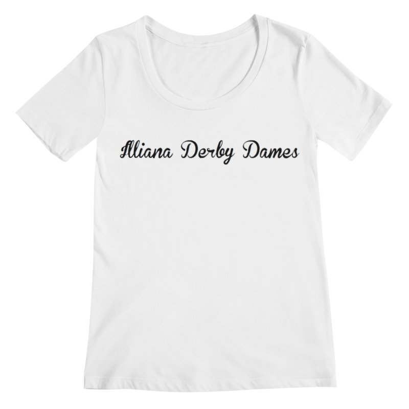 Black IDD script Women's Regular Scoop Neck by Illiana Derby Dames's Team Merch Shop