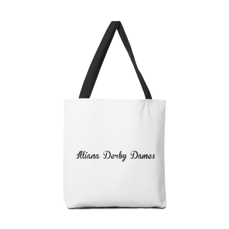 Black IDD script Accessories Bag by Illiana Derby Dames's Team Merch Shop