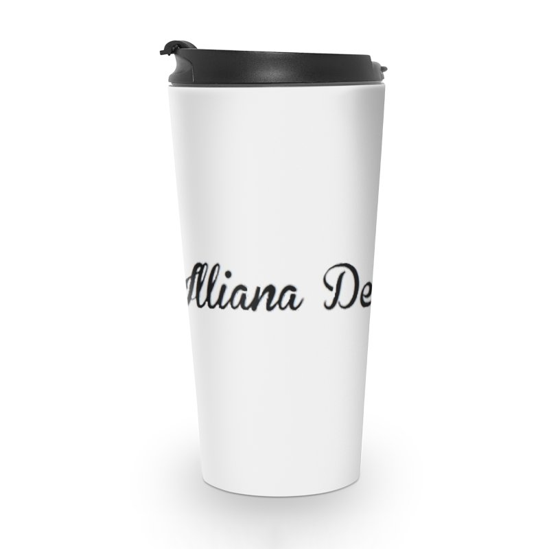 Black IDD script Accessories Travel Mug by Illiana Derby Dames's Team Merch Shop