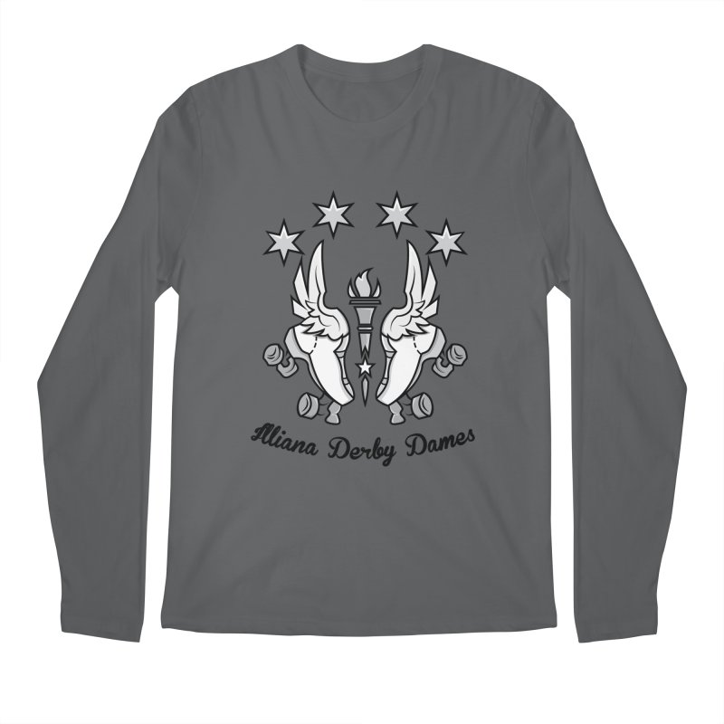 Logo with black letters and purple background Men's Longsleeve T-Shirt by Illiana Derby Dames's Team Merch Shop