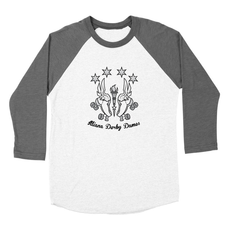 Logo with black letters and purple background Women's Longsleeve T-Shirt by Illiana Derby Dames's Team Merch Shop
