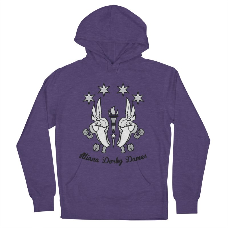 Logo with black letters and purple background Women's French Terry Pullover Hoody by Illiana Derby Dames's Team Merch Shop