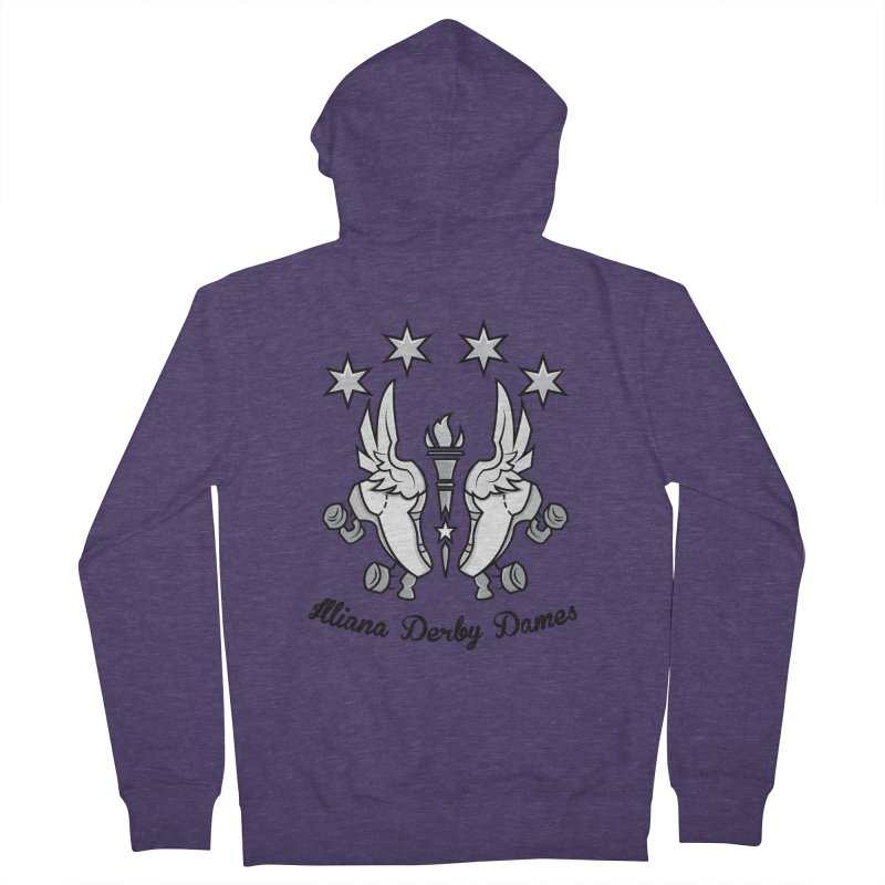Logo with black letters and purple background Men's French Terry Zip-Up Hoody by Illiana Derby Dames's Team Merch Shop