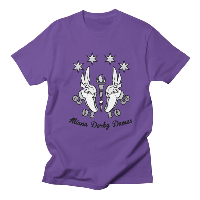 Logo with black letters and purple background Men's Regular T-Shirt by Illiana Derby Dames's Team Merch Shop