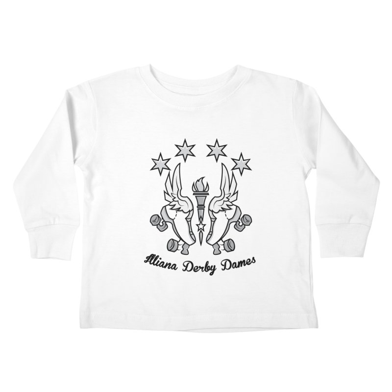 Logo with black letters and purple background Kids Toddler Longsleeve T-Shirt by Illiana Derby Dames's Team Merch Shop