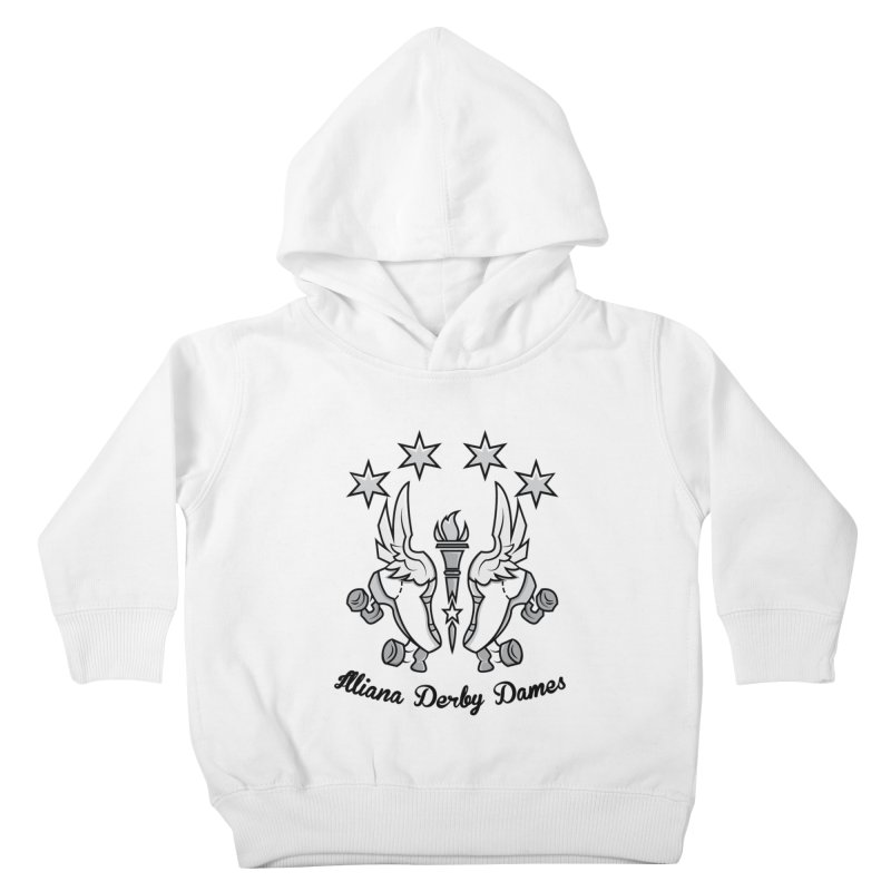 Logo with black letters and purple background Kids Toddler Pullover Hoody by Illiana Derby Dames's Team Merch Shop