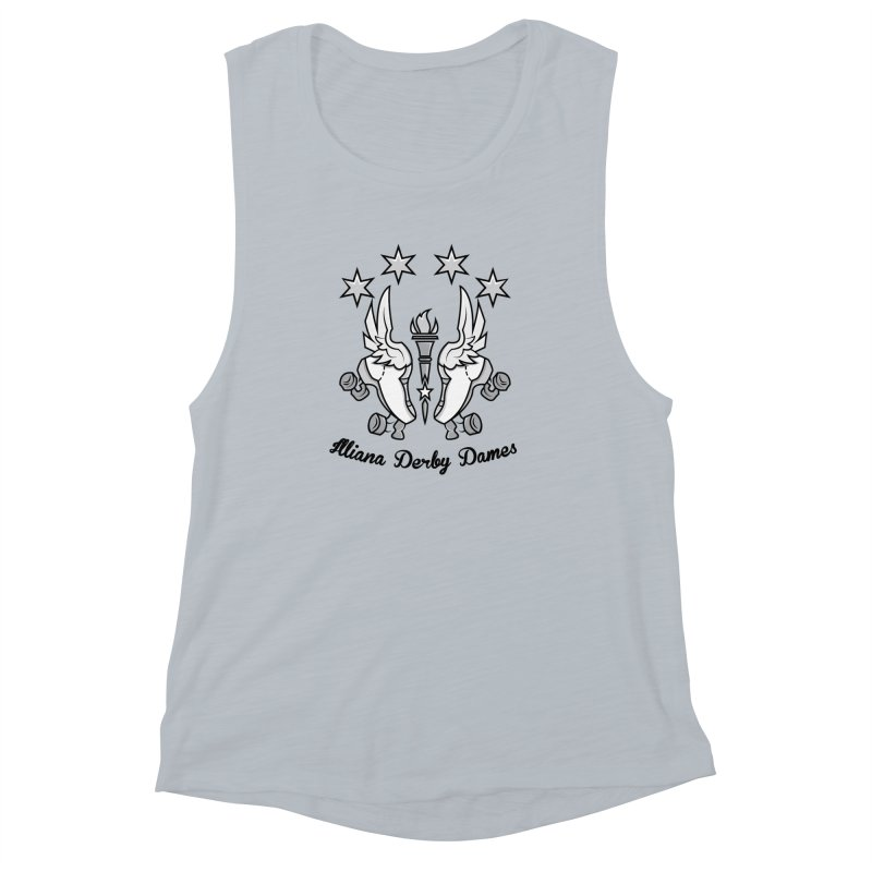 Logo with black letters and purple background Women's Muscle Tank by Illiana Derby Dames's Team Merch Shop