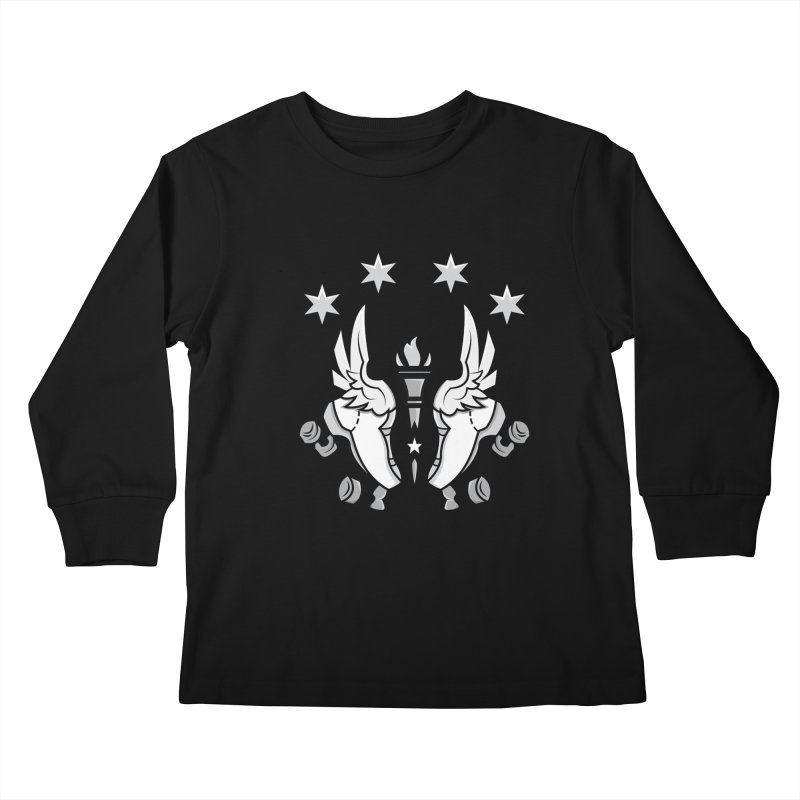 Logo with black letters and purple background Kids Longsleeve T-Shirt by Illiana Derby Dames's Team Merch Shop