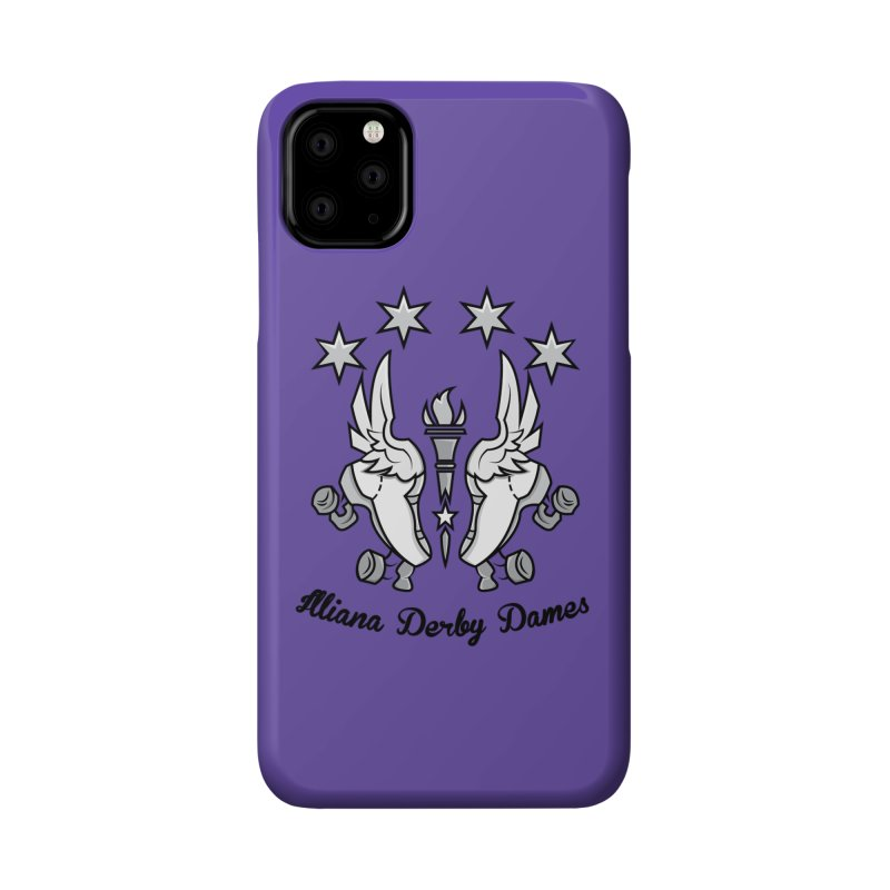 Logo with black letters and purple background Accessories Phone Case by Illiana Derby Dames's Team Merch Shop