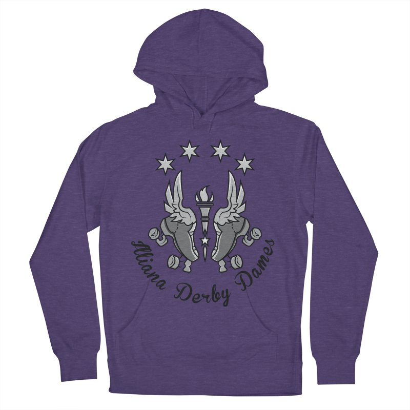IDD dark logo with purple background Women's French Terry Pullover Hoody by Illiana Derby Dames's Team Merch Shop