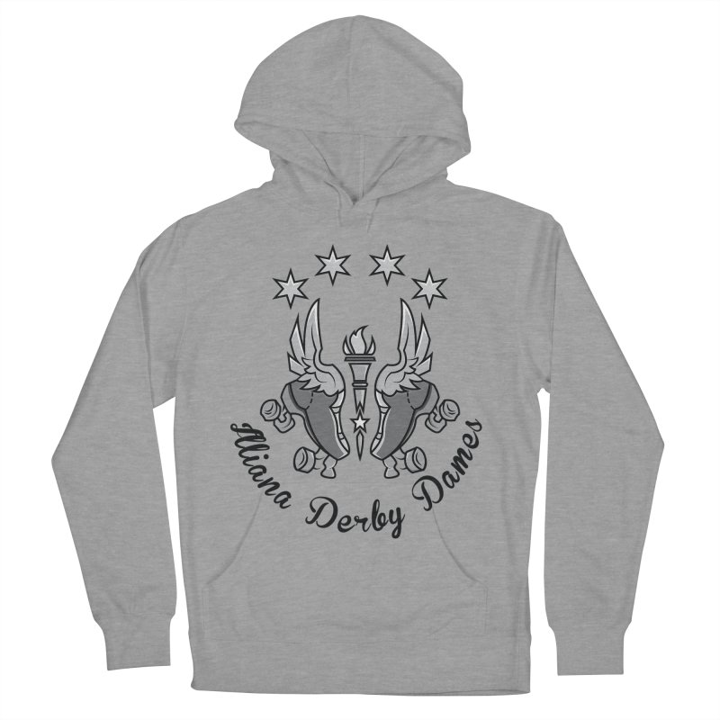 IDD dark logo with purple background Men's French Terry Pullover Hoody by Illiana Derby Dames's Team Merch Shop