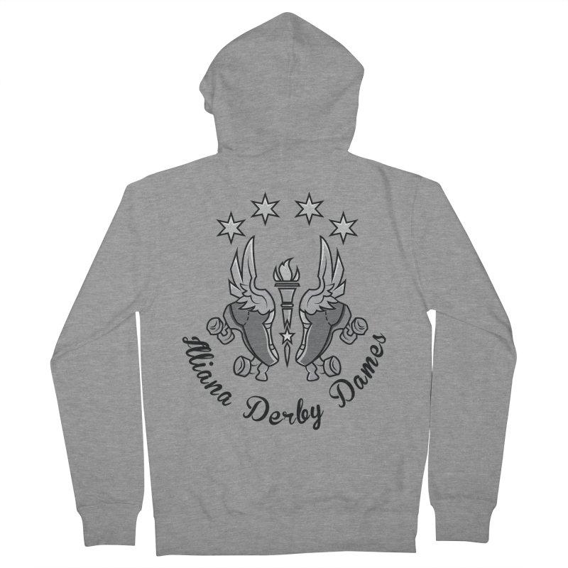 IDD dark logo with purple background Men's French Terry Zip-Up Hoody by Illiana Derby Dames's Team Merch Shop