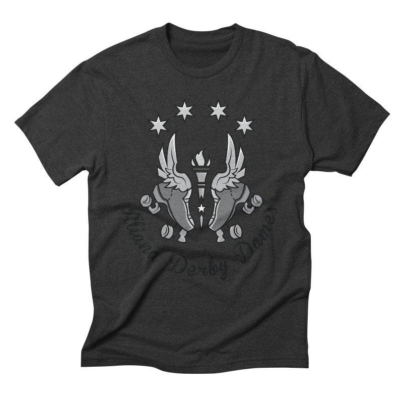 IDD dark logo with purple background Men's Triblend T-Shirt by Illiana Derby Dames's Team Merch Shop
