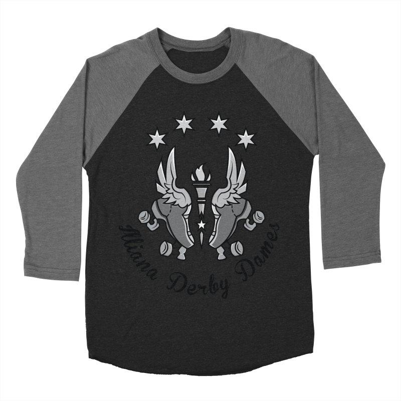 IDD dark logo with purple background Men's Baseball Triblend Longsleeve T-Shirt by Illiana Derby Dames's Team Merch Shop