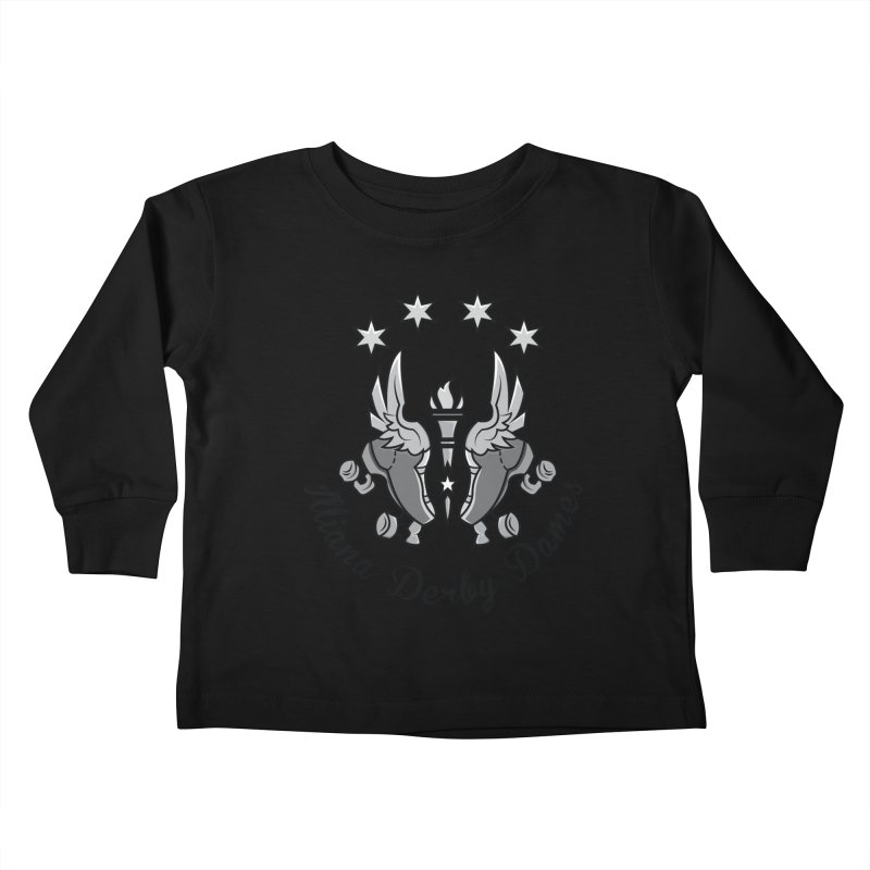 IDD dark logo with purple background Kids Toddler Longsleeve T-Shirt by Illiana Derby Dames's Team Merch Shop