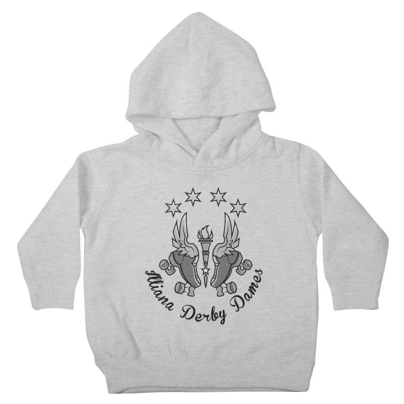 IDD dark logo with purple background Kids Toddler Pullover Hoody by Illiana Derby Dames's Team Merch Shop