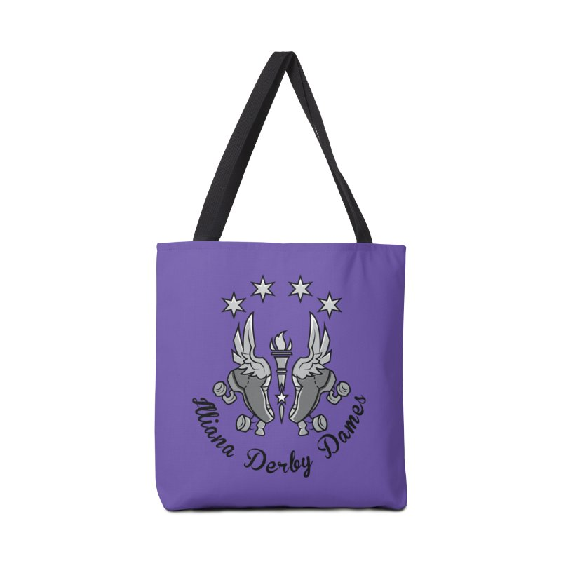 IDD dark logo with purple background Accessories Tote Bag Bag by Illiana Derby Dames's Team Merch Shop