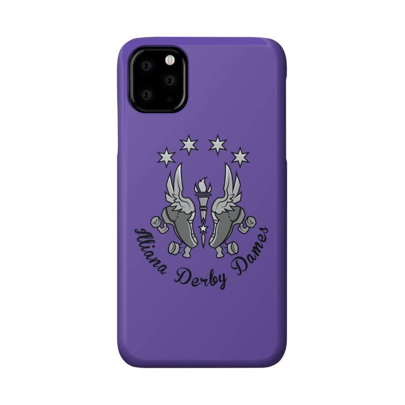 IDD dark logo with purple background Accessories Phone Case by Illiana Derby Dames's Team Merch Shop