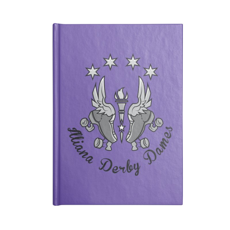 IDD dark logo with purple background Accessories Notebook by Illiana Derby Dames's Team Merch Shop