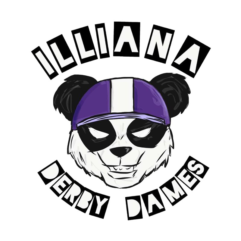 Pandamonium Men's T-Shirt by Illiana Derby Dames's Team Merch Shop