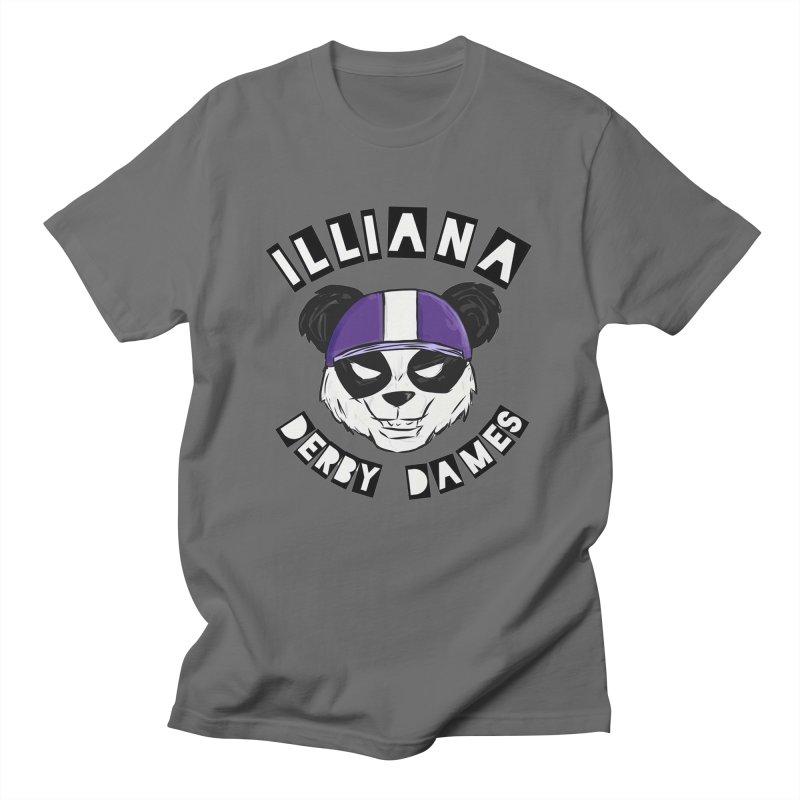 Pandamonium Men's T-Shirt by Illiana Derby Dames's Team Merch Shop