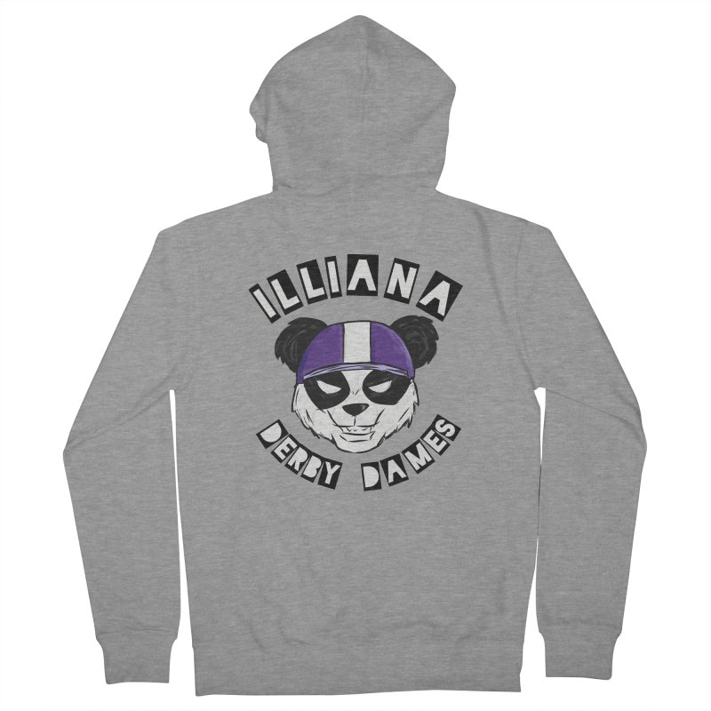 Pandamonium Men's French Terry Zip-Up Hoody by Illiana Derby Dames's Team Merch Shop