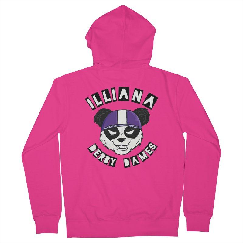 Pandamonium Men's Zip-Up Hoody by Illiana Derby Dames's Team Merch Shop