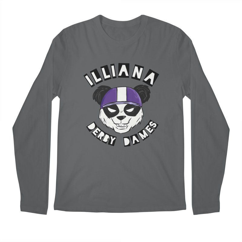 Pandamonium Men's Regular Longsleeve T-Shirt by Illiana Derby Dames's Team Merch Shop
