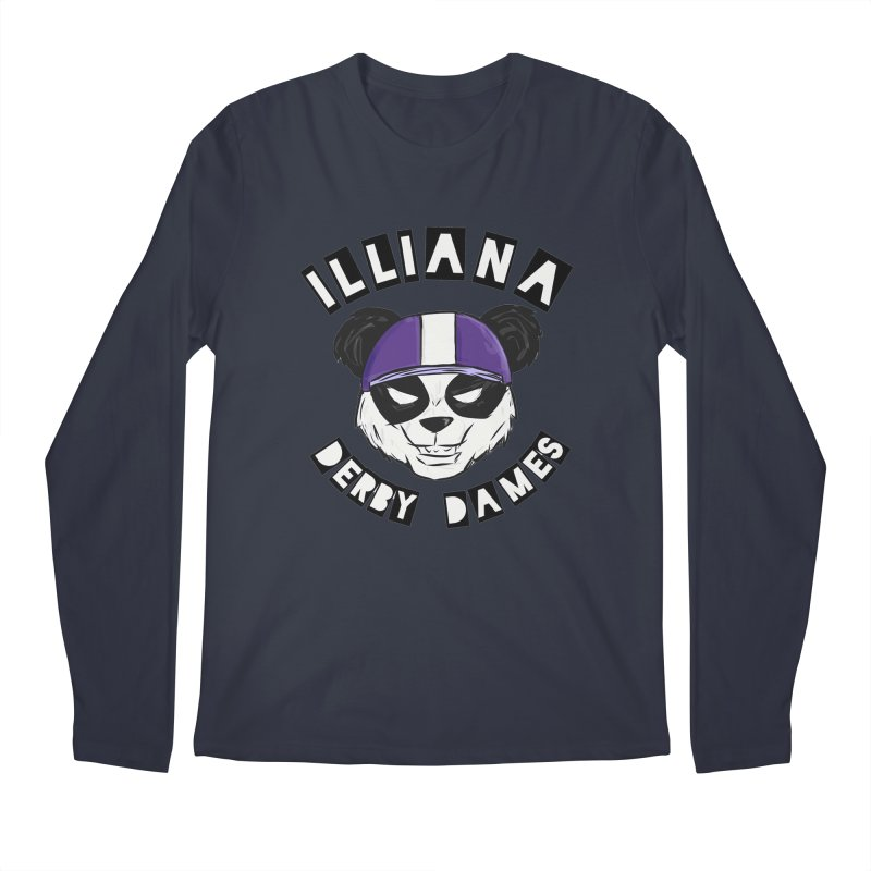 Pandamonium Men's Longsleeve T-Shirt by Illiana Derby Dames's Team Merch Shop