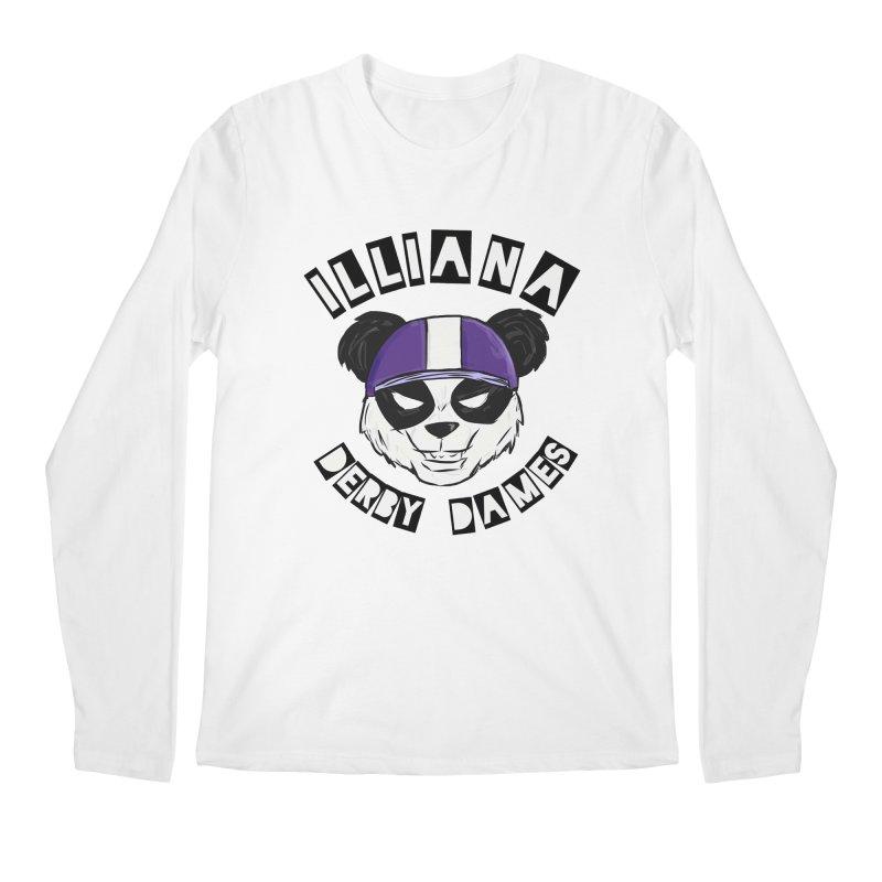 Pandamonium Men's Regular Longsleeve T-Shirt by Illiana Derby Dames's Team Merch Shop