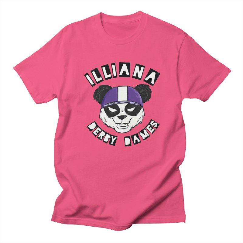 Pandamonium Men's Regular T-Shirt by Illiana Derby Dames's Team Merch Shop
