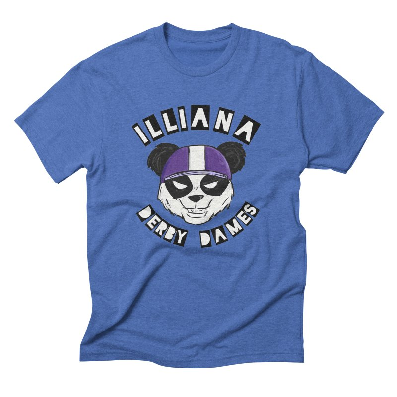 Pandamonium Men's Triblend T-Shirt by Illiana Derby Dames's Team Merch Shop