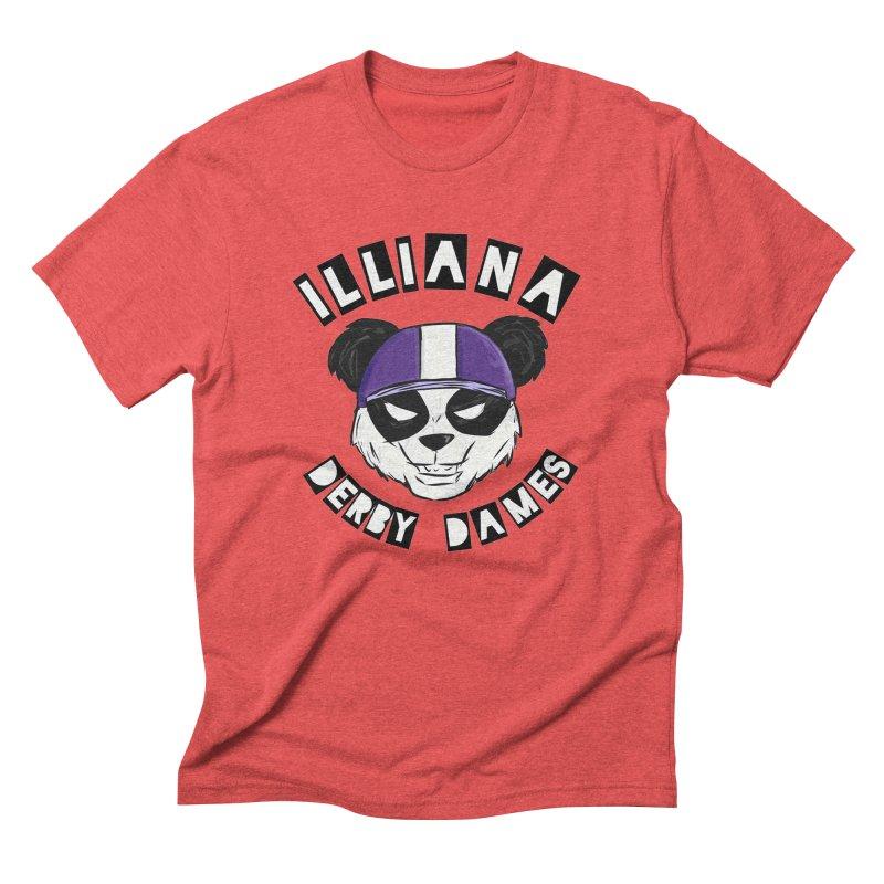 Pandamonium Men's Triblend T-Shirt by Illiana Derby Dames's Team Merch Shop