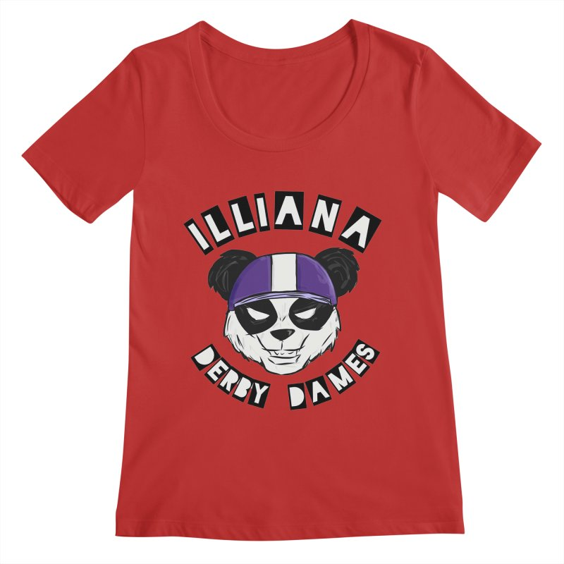 Pandamonium Women's Regular Scoop Neck by Illiana Derby Dames's Team Merch Shop