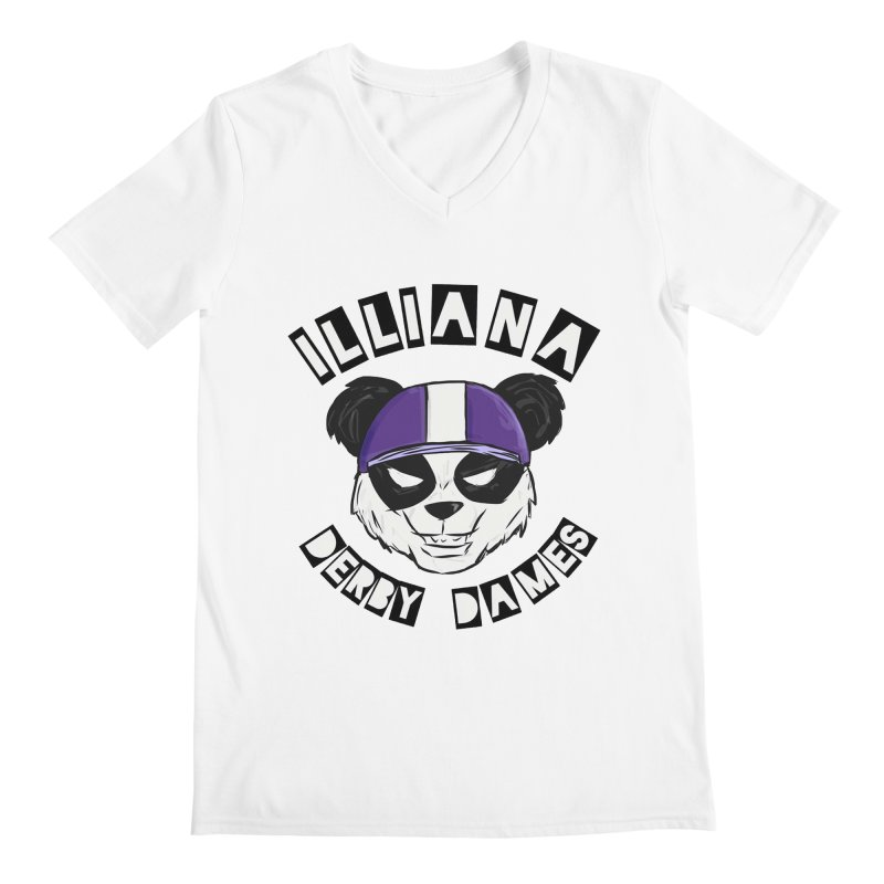 Pandamonium Men's V-Neck by Illiana Derby Dames's Team Merch Shop