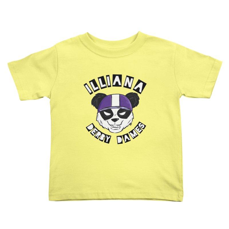 Pandamonium Kids Toddler T-Shirt by Illiana Derby Dames's Team Merch Shop