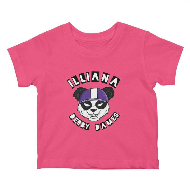 Pandamonium Kids Baby T-Shirt by Illiana Derby Dames's Team Merch Shop