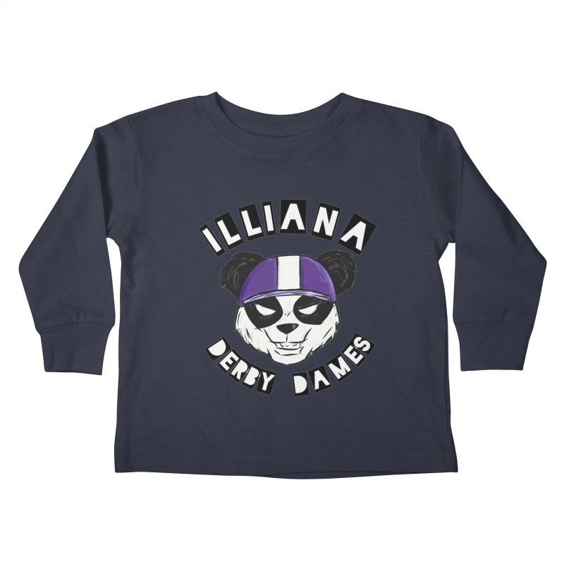 Pandamonium Kids Toddler Longsleeve T-Shirt by Illiana Derby Dames's Team Merch Shop