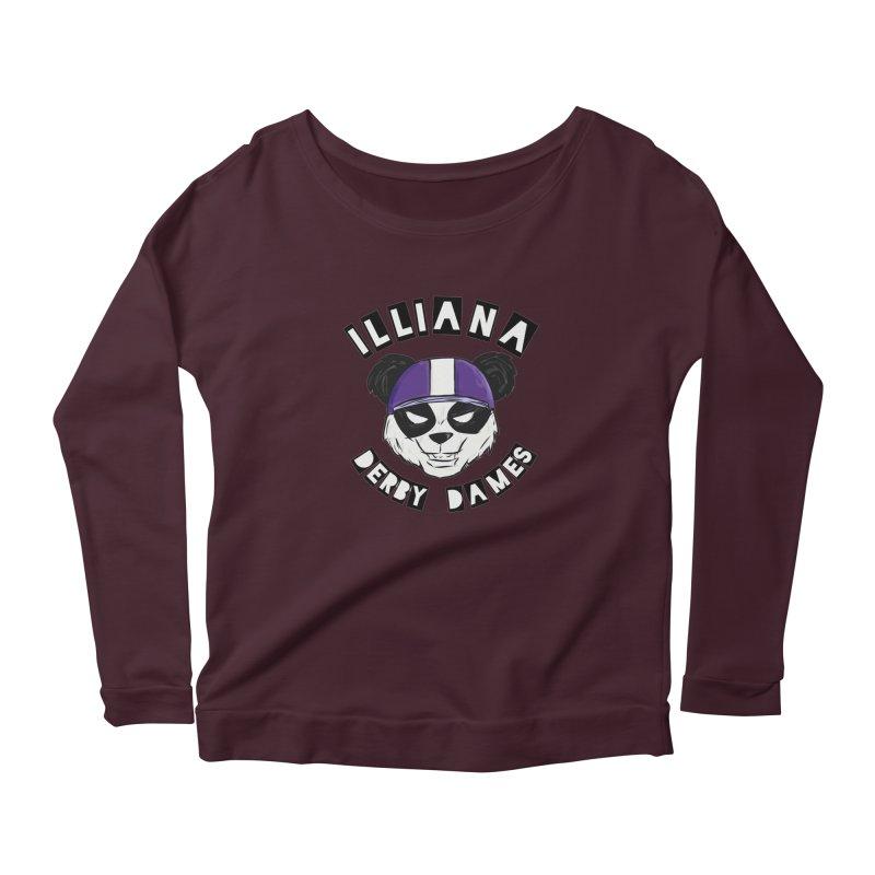 Pandamonium Women's Scoop Neck Longsleeve T-Shirt by Illiana Derby Dames's Team Merch Shop