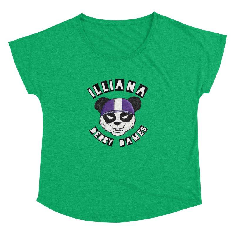 Pandamonium Women's Dolman Scoop Neck by Illiana Derby Dames's Team Merch Shop