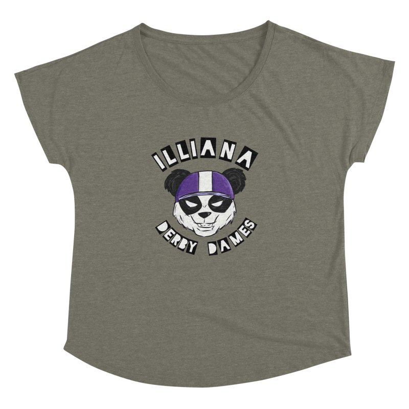 Pandamonium Women's Dolman Scoop Neck by Illiana Derby Dames's Team Merch Shop