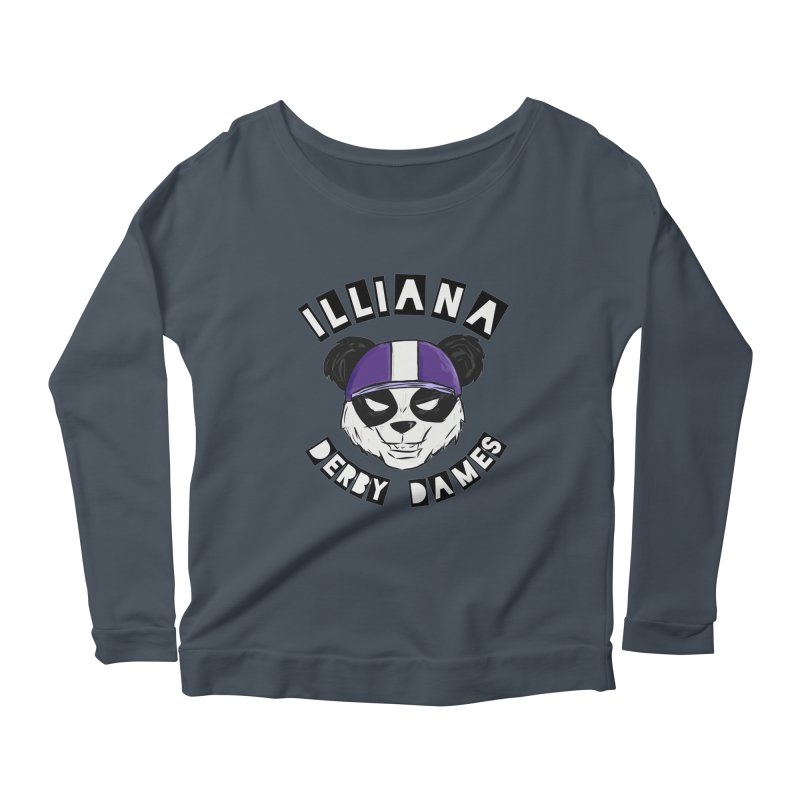 Pandamonium Women's Scoop Neck Longsleeve T-Shirt by Illiana Derby Dames's Team Merch Shop