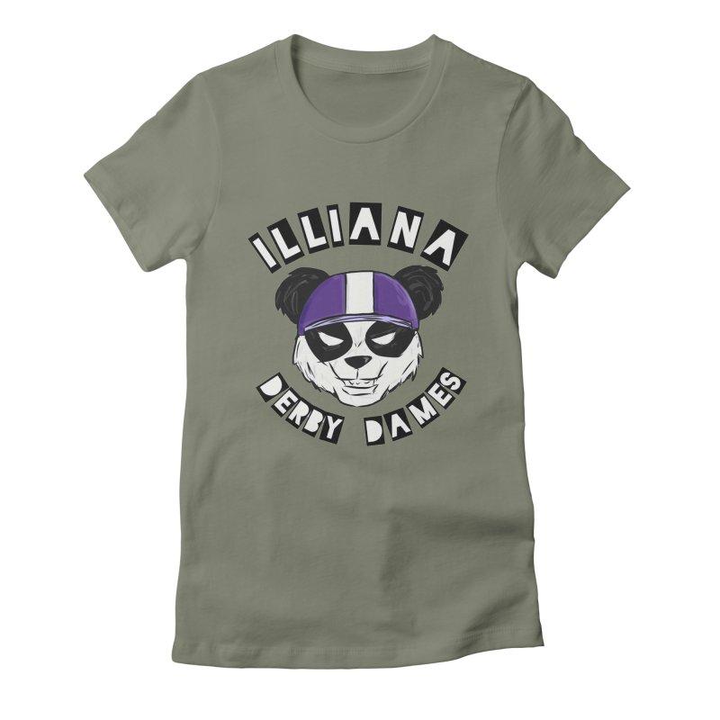 Pandamonium Women's Fitted T-Shirt by Illiana Derby Dames's Team Merch Shop