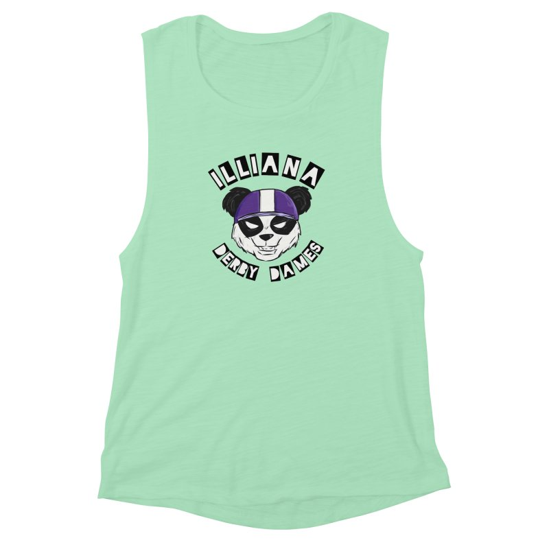 Pandamonium Women's Muscle Tank by Illiana Derby Dames's Team Merch Shop