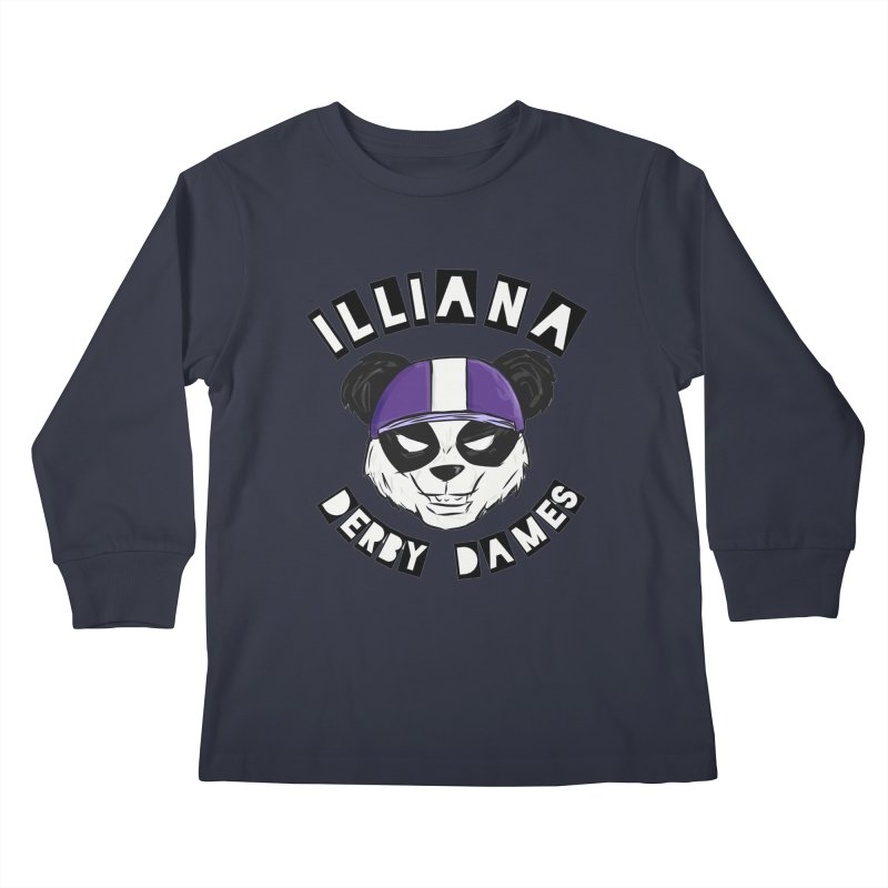 Pandamonium Kids Longsleeve T-Shirt by Illiana Derby Dames's Team Merch Shop