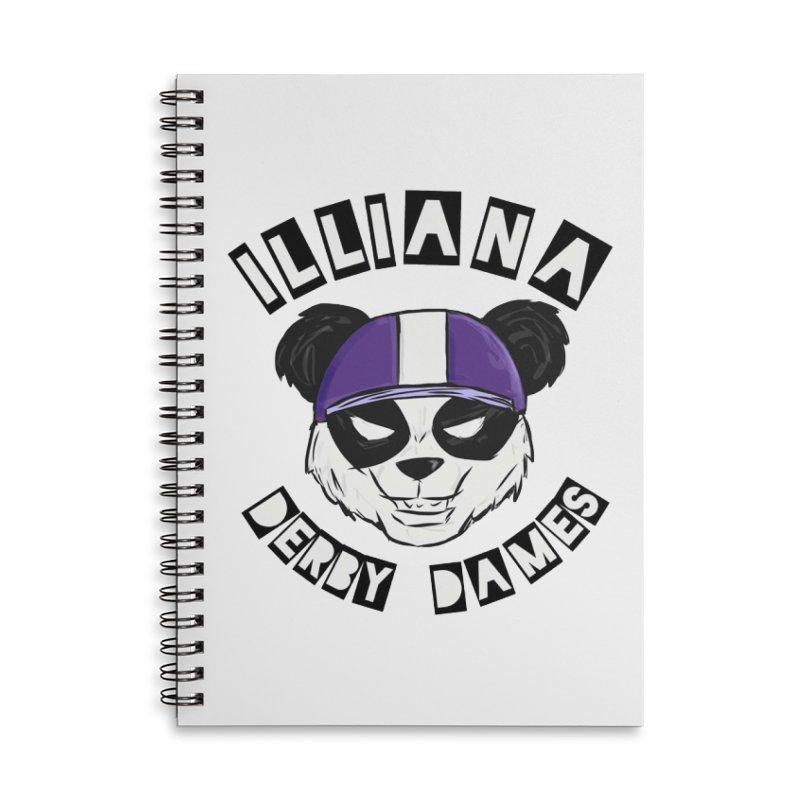 Pandamonium Accessories Lined Spiral Notebook by Illiana Derby Dames's Team Merch Shop